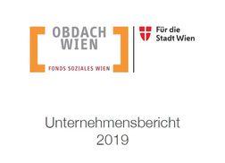 Obdach Wien Unternehmensbericht 2019