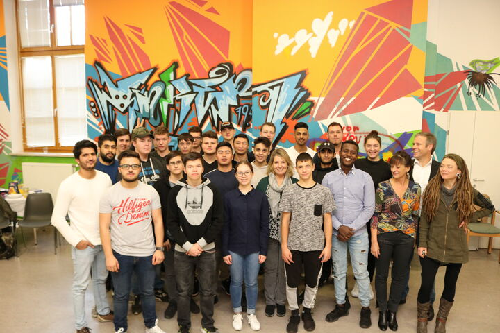 Das motivierte Team aus Lehrlingen und Obdach Wien MitarbeiterInnen. (Bild: FSW)
