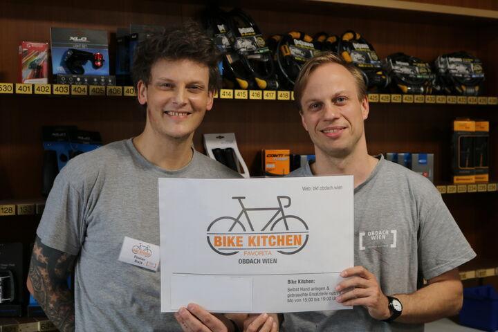 Kompetente Beratung durch die Bike Kitchen Favorita Profis (Bild: FSW)