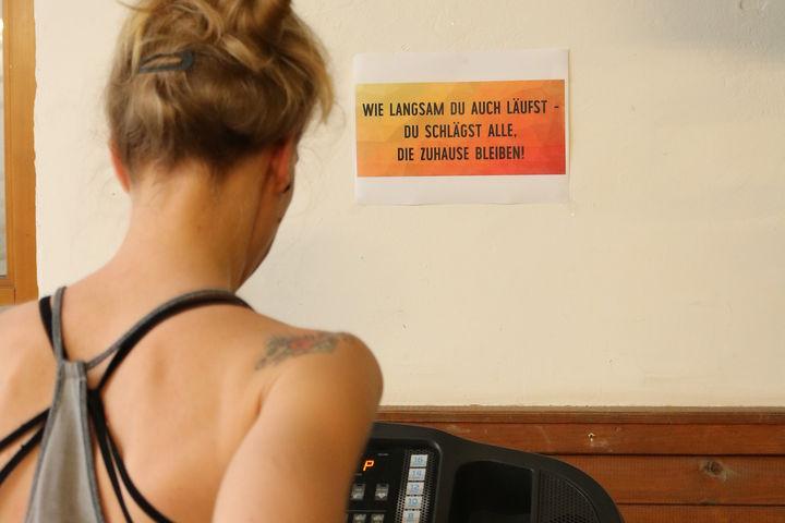 Motivation findet man im Fitnessraum überall (Bild: FSW)