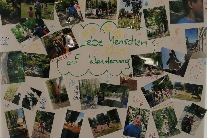 Die Plakate zeigen die schönen Momente des Fotospaziergangs. (Bild: FSW)