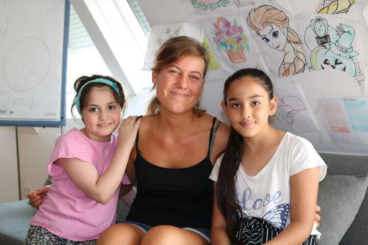 Katharina Dungl hatte einen guten Draht zu den Schülerinnen (Bild: FSW)