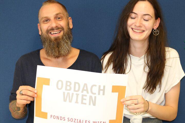 Franziska und ihr ehemaliger Teamleiter, Jürgen Grill, hatten Spaß beim Gespräch (Bild: FSW)