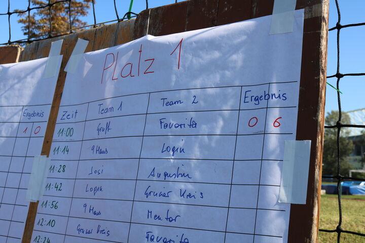 Schon das erste Match entschied das Team Grundversorgung Obdach Favorita deutlich für sich (Bild: FSW)