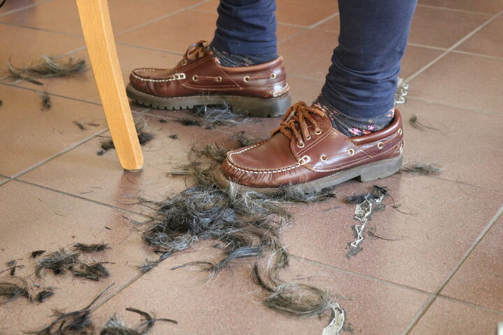 Die Haare fallen nur so zu Boden, wenn eine Rundumerneuerung ansteht. (Bild: FSW)