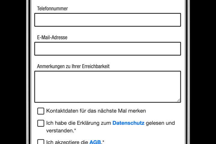 Schritt 3: Kontaktdaten für Rückfragen der Straßensozialarbeit sind hilfreich. (Bild: FSW)