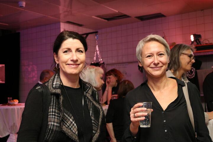 Geschäftsführerin Doris Czamay und Bereichsleiterin Sabine Graf mischten sich unter die Gäste. (Bild: FSW)