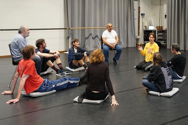 Ein Einblick in einen Workshop von Forum Obdach Wien im Tanzquartier Wien. (Bild: TQW)