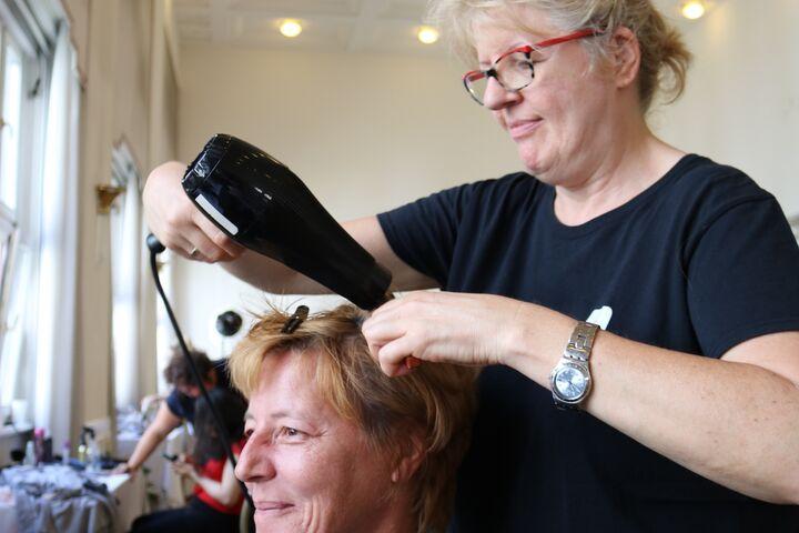 Auch Brigitte genoss den Obdach Wien Wohlfühltag. (Bild: FSW)