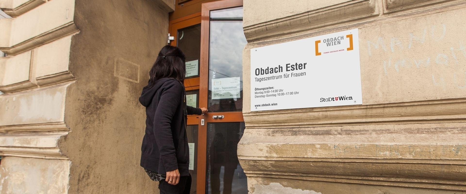 Die Türen des Tageszentrum Obdach Ester stehen Frauen jeden Tag offen.
