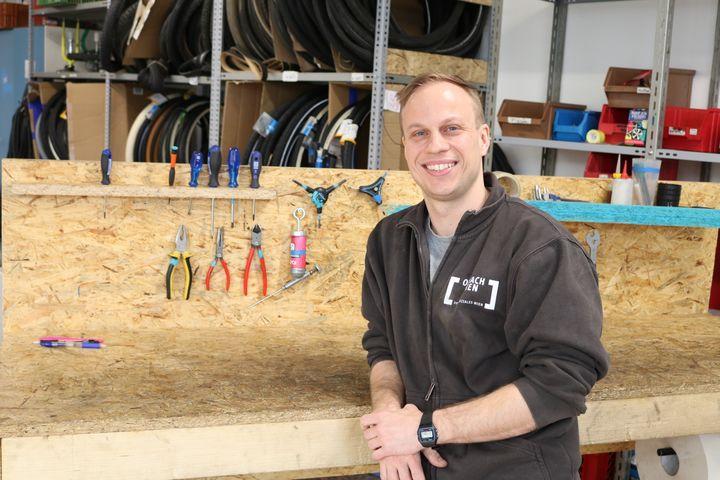 Andreas Maier ist Trainer in der Bike Kitchen Favorita. (Bild: FSW)