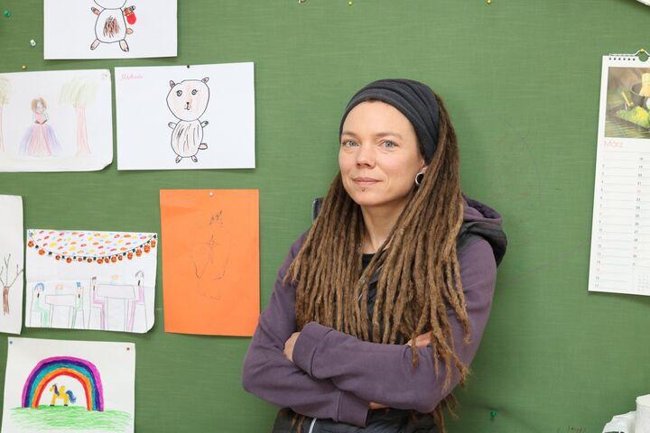 Katja Fries leitet das Chancenhaus für Familien Obdach Favorita. (Bild: FSW)