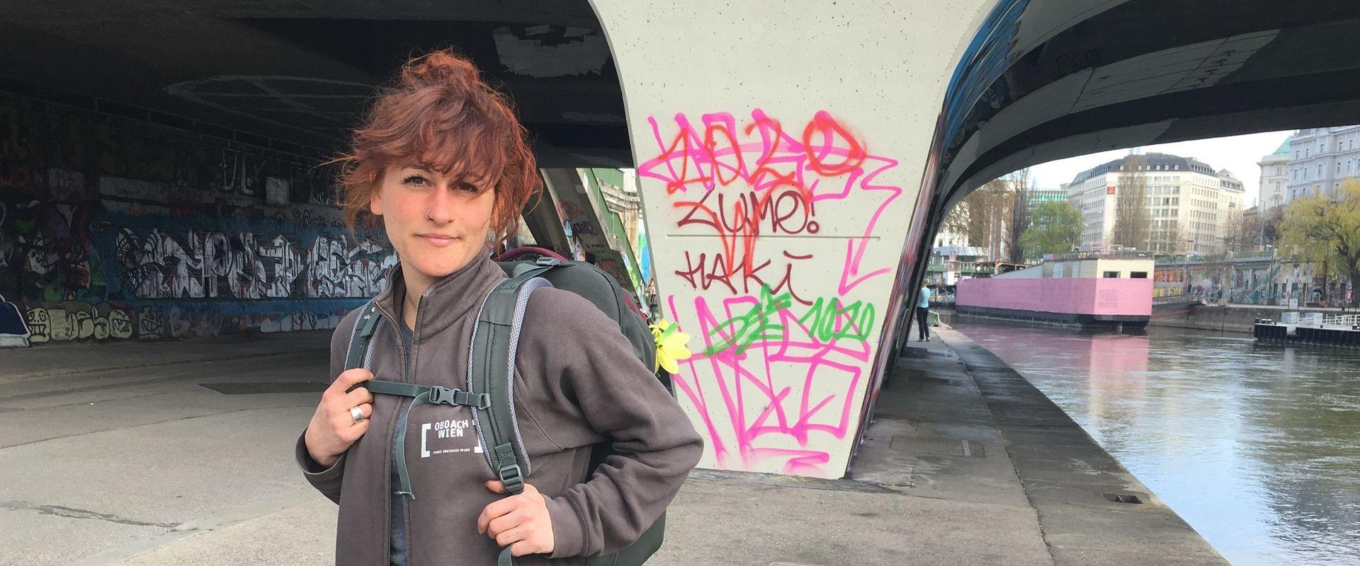Straßensozialarbeiterin Carmen gibt Einblicke in den Arbeitsalltag während Corona.
