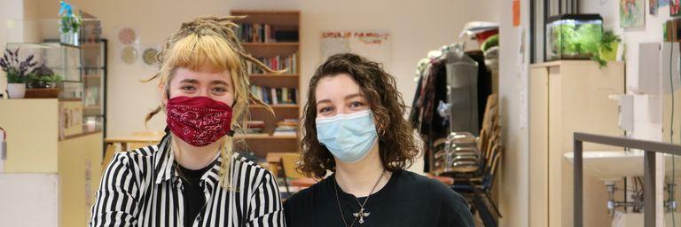 Lea und Alma im Obdach Ester. (Bild: FSW)