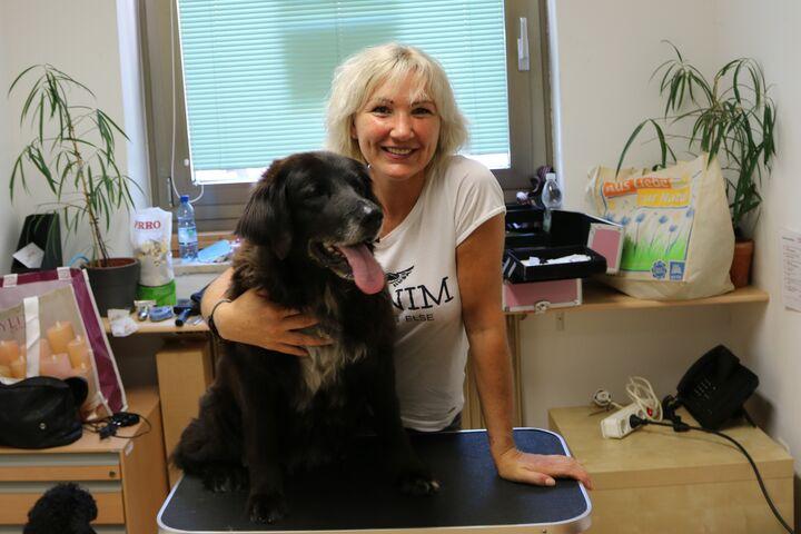 Hündin Lucy vor ihrem Besuch beim Profi (Bild: FSW)