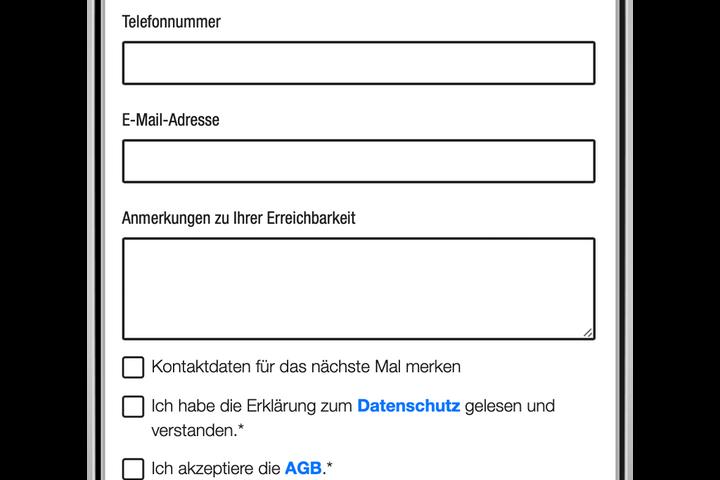 Optional: Kontaktdaten für Rückfragen sind für die StraßensozialarbeiterInnen hilfreich. (Bild: FSW)