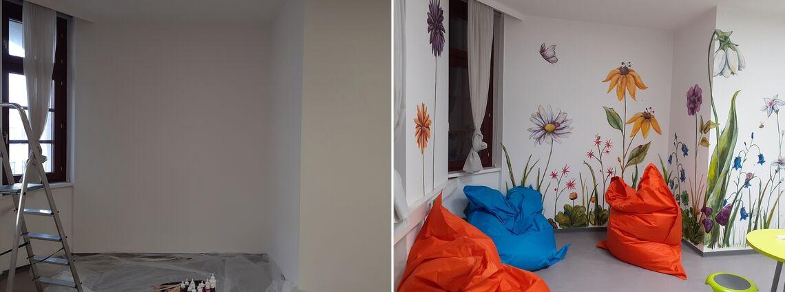 Der direkte Vergleich des Raums vorher und nachher ist enorm. (Bild: FSW)