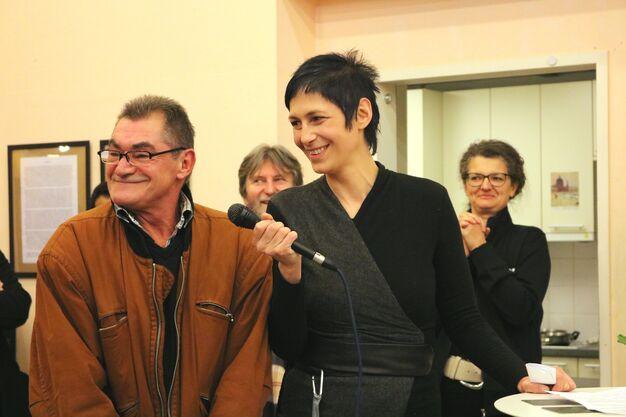 Günter Lechner und Nina Strasser bei der Eröffnungsrede. (Bild: FSW)