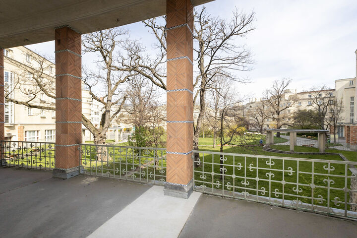 Die Terrasse des WienZimmers. (Bild: FSW)
