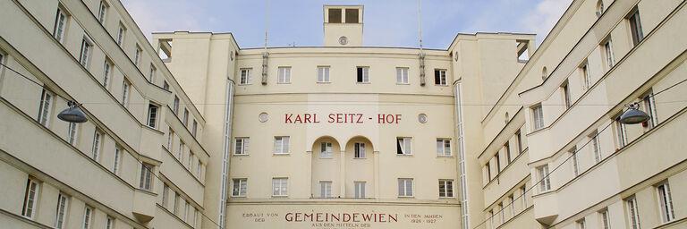 Ein Blick auf den Karl-Seitz-Hof, wo das WienZimmer zu finden ist. (Bild: FSW)